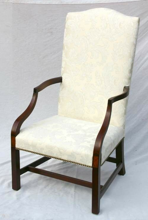 18th c.Transitional Chippendale/Federal Inlaid Lolling Chair c.1790