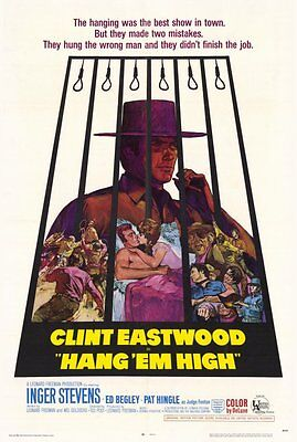 Hang Em High Movie Poster  Licensed New Usa  27X40  Theater Size Clint Eastwood