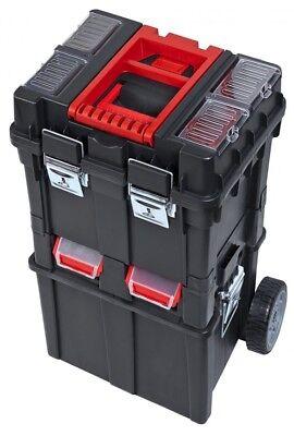 Werkzeugkiste mit Rädern Werkzeugkasten Werkzeugbox Werkzeugkoffer HD Compact 1 (Werkzeugkasten Mit Rädern)