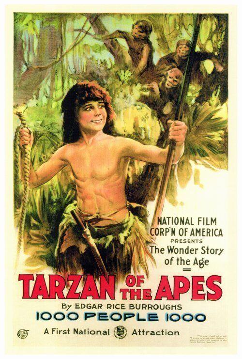 TARZAN OF THE APES Movie POSTER 27x40 Elmo Lincoln Enid Markey