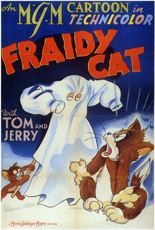 FRAIDY CAT Movie POSTER 27x40 Tom and Jerry