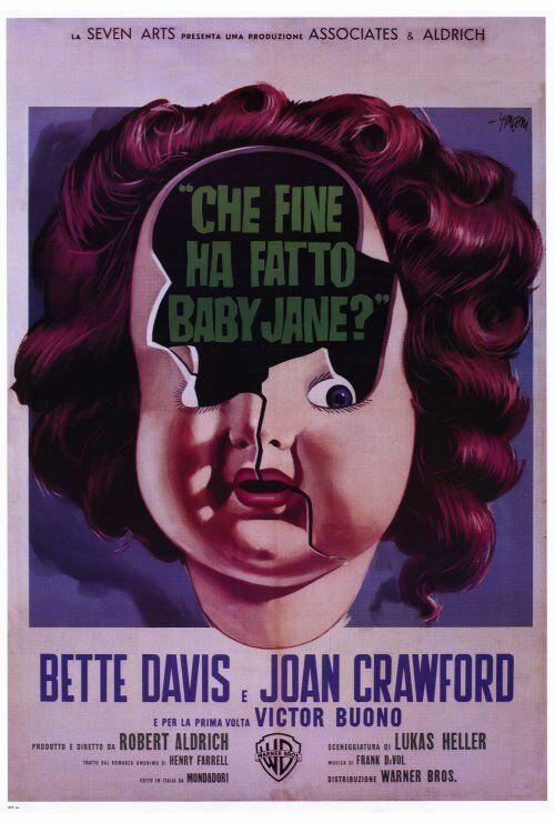 WHATEVER HAPPENED TO BABY JANE? Movie POSTER 27x40 C Bette Davis Joan Crawford