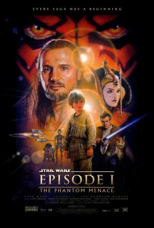 "Star wars  ""the phantom menance "" - 27"" x 40"" movie poster  a  1999 episode 1"
