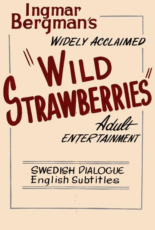 WILD STRAWBERRIES Movie POSTER 27x40