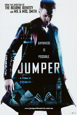 Jumper Movie Poster 27X40 B Hayden Christensen Samuel L  Jackson Diane Lane