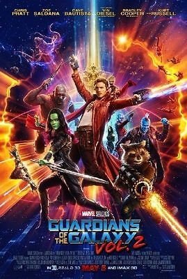 Guardians of the Galaxy Vol. 2 Original Movie Poster DS Double Sided 27 x 40