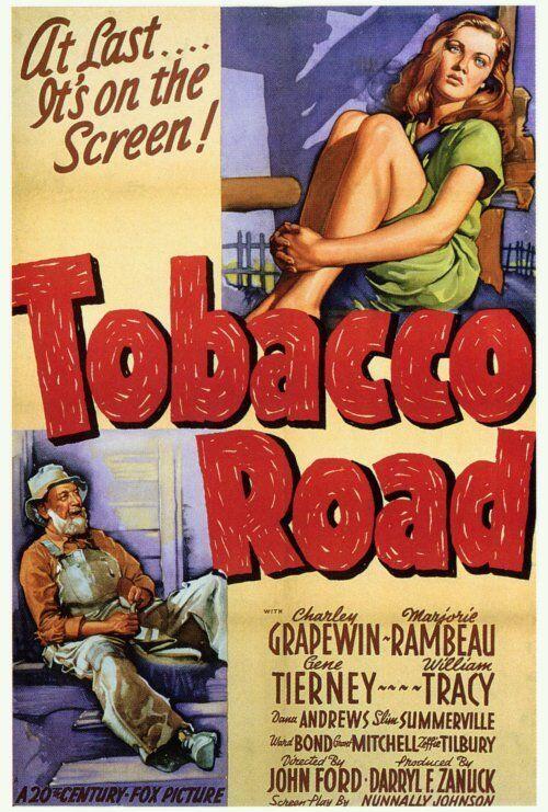TOBACCO ROAD Movie POSTER 27x40 B Charley Grapewin Marjorie Rambeau Gene Tierney