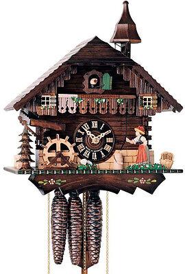 Cuckoo Clock 1 Day Chalet - Hones 619M Musical Bell Ringer Chalet 1 Day Cuckoo Clock