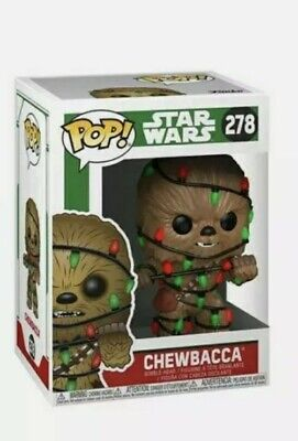 Funko Pop! Star Wars Chewbacca with Lights #278 Christmas With Soft Protector