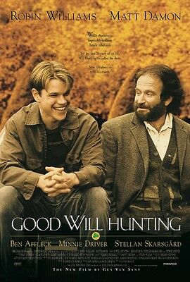 Good Will Hunting 24X36 Poster Matt Damon Robin Williams Ben Affleck Driver New