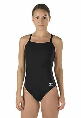 NWT Speedo Female One Piece Swimsuit - Solid Flyback Training Suit 12/38, -