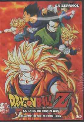 DRAGON BALL Z DVD LA SAGA DE MAJIN BUU En Español SPANISH 89 EPISODIOS NEW
