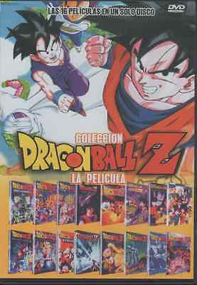 DRAGON BALL Z DVD LAS 16 PELICULAS En Español SPANISH NEW AND FACTORY SEALED