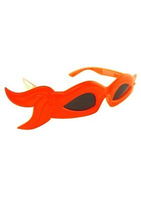 Tmnt Bandana (Party Costumes - Sun-Staches - TMNT Bandana Glasses Orange Mask Toys SG1943)