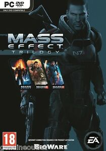 MASS EFFECT TRILOGY 1+2+3 for PC XP/VISTA/7 SEALED NEW