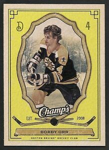 UD Champ`s - BOBBY ORR - Yellow SP Insert card