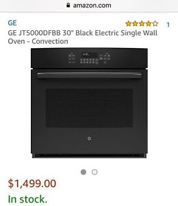 GE WALL OVEN Black