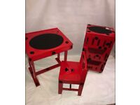 Child's Desk, Chair and 3 tier storage box set