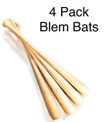 """Craft Baseball Bats (4-33.5"""" CRAFT QUALITY Wooden Blem Baseball Bats  (FREE)"""