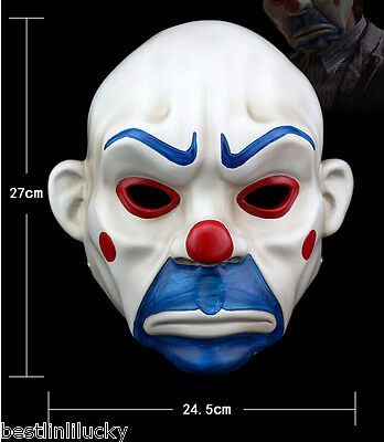 High-grade resin Joker Bank Robber Mask Clown Batman Dark Knight prop masquerade