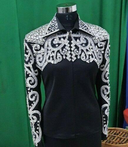 Women Western Formal Equestrian Riding Show Wear Jacket Rail Shirt Rodeo queen