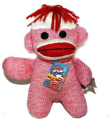 Schylling Sock Monkey Baby PINK SALE!