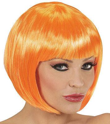 Chan.) Qualitäts Frauen Pagenkopf, Kürbis Halloween, orange (Kürbis Perücke)
