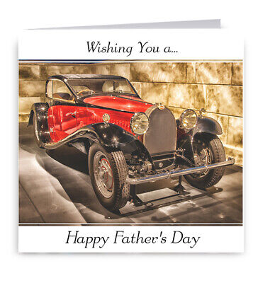 Vintage Car Fathers Day Card