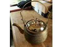 Brass Tea Kettle Polishes up nice.