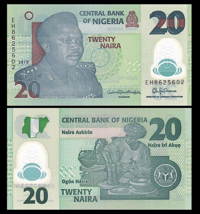 NIGERIA 20 Naira, 2018, P-34, UNC World Currency