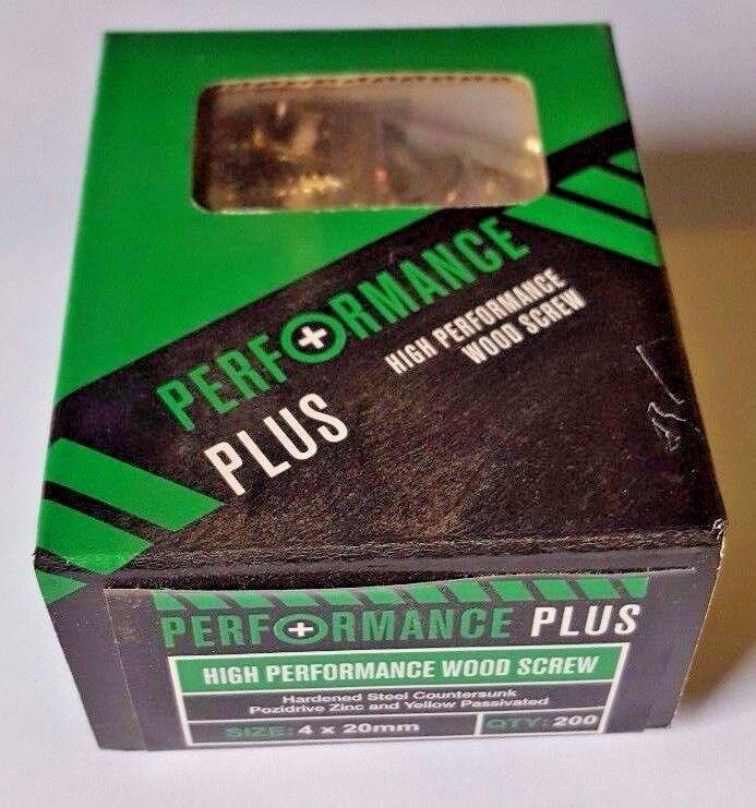3.5 x 40mm PERFORMANCE PLUS WOODSCREWS Box of 200