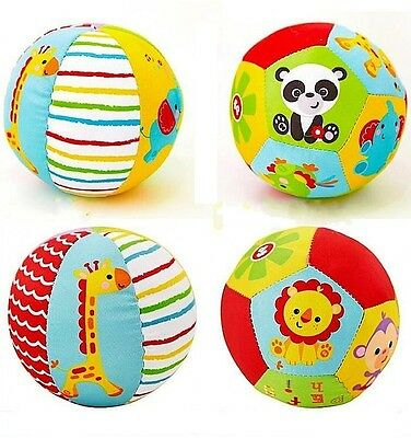 Fisher Price Baby Kid Soft Stuffed My First Little Ball Rattle Sports Crib Toy - Ball Toys