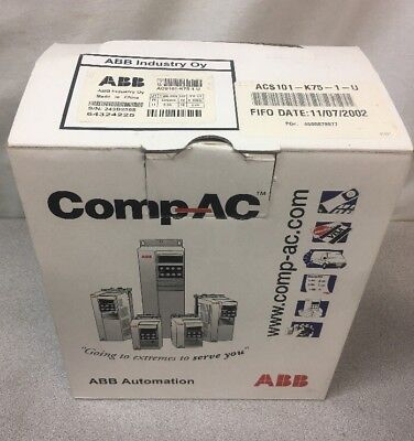 New Abb Ac Drive Speed Controller 240v Acs101-k75-1-u