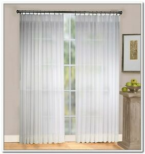 Batiste Sheer Pinch Pleated Drapes 84 Long 96 Custom Size Per Panel