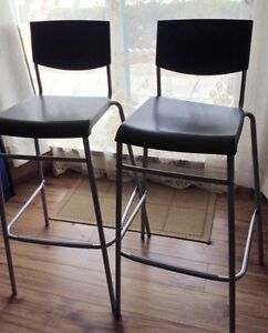 REDUCED PRICE*** New Ikea two Bar stool with backrest