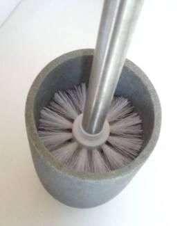 Stone toilet brush holder (and brush)