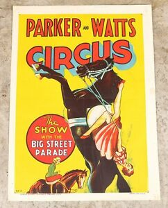 Original Vintage Advertising Poster/Sign 1930's Parker & Watts