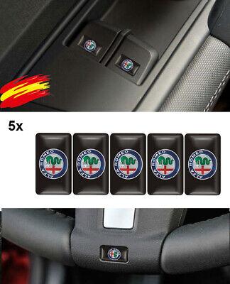 5 x 3D Logo Alfa Romeo NEW Decoración Del Coche Emblema Insignia...