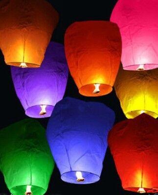 Lantern Chinese (7pcs UFO Fly Lanterns Chinese Paper Wish Lamp Sky Candle Flying Fire)