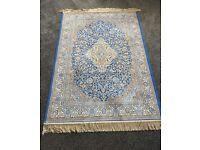 Home rug. Blue brown wayfair rug