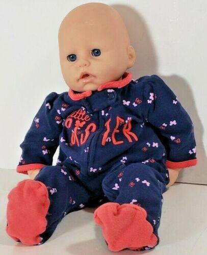 Zapf Creations New Born Touch Doll Blue Eyes Eyelashes Cloth Body