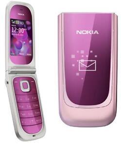 New Condition Nokia Fold 7020 - Pink  Flip Big Bottom Unlocked