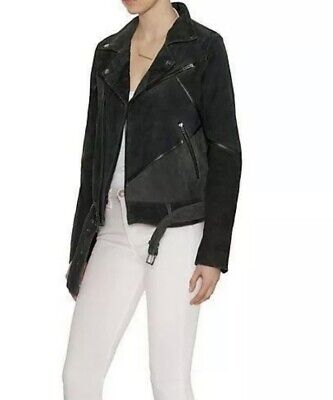 BLK DNM Moto Acne Leather Jacket Orig. $1,295 NEW Suede Motorcycle Women's Sz S