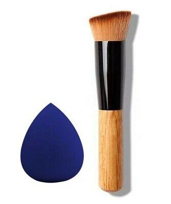 Pennello Per Fondotinta Professionale + Spugna Per Trucco Make-up