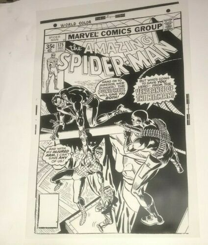 Amazing Spiderman versus Punisher Marvel Astonish Cover Art Production Acetate