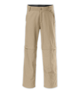 North Face Boys Camp TNF Hike Convertible Pants Size L 14-16