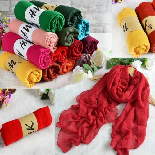 Fashion Style Lady Women Scarves Long Soft Cotton Scarf Wrap Girls Shawl Stole