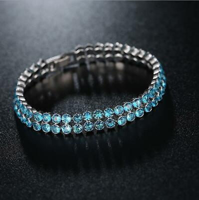 - Awesome 60.25 Cts Titanic Ocean Blue Topaz Gemstone Silver Charm Bracelet B1008