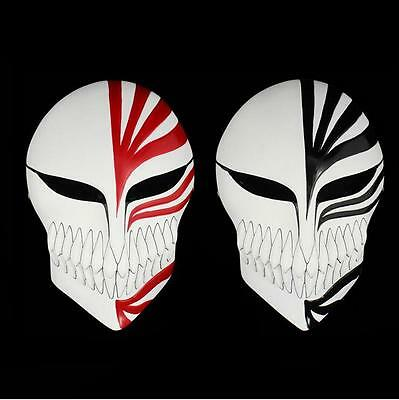 Japan Anime Bleach Ichigo Kurosaki Cosplay Full Hollow Halloween Mask Red& Black