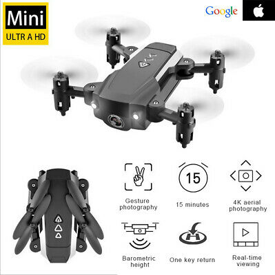 Mini Drone X Pro Foldable Quadcopter WIFI FPV 4K 1080P Wide-Angle HD Camera RC